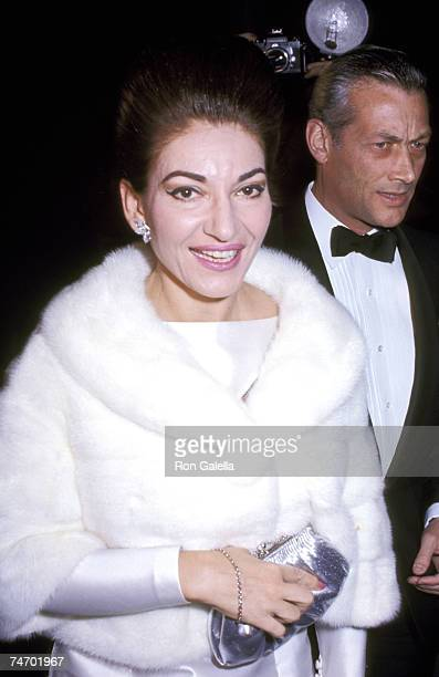 Maria Callas at the Paris, France in Paris, France.