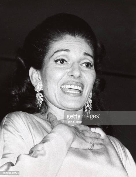 Maria Callas during Maria Callas Performance at Carnagie Hall at Carnagie Hall in New York City New York United States