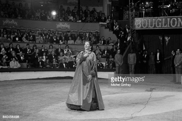 Maria Callas Greek Opera singer at the Union of artists Gala Paris 24th April 1971