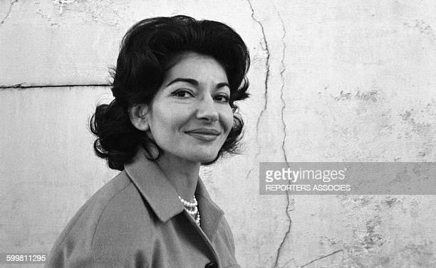 Maria Callas in MonteCarlo Monaco in 1960
