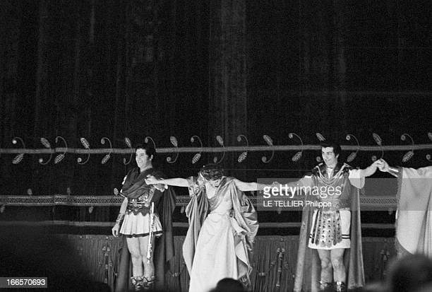 Maria Callas In 'Poliuto' By Gaetano Donizetti At The Scala Milan Milan 7 décembre 1960 A la Scala lors d'une représentation de l'opéra 'Poliuto' de...
