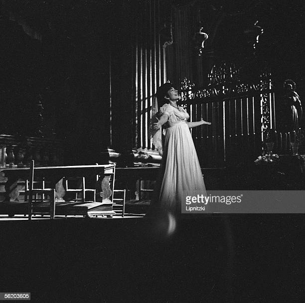 Maria Callas in Tosca of Giacomo Puccini Opera of Paris February 1965