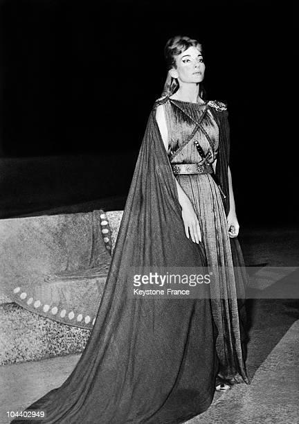 Maria CALLAS interpreting NORMA of BELLINI at the Epidavros theatre