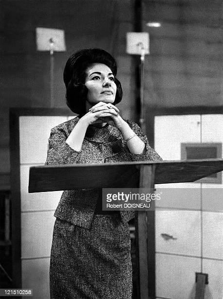 Maria Callas Rehearsal At The Salle Wagram Paris 1963