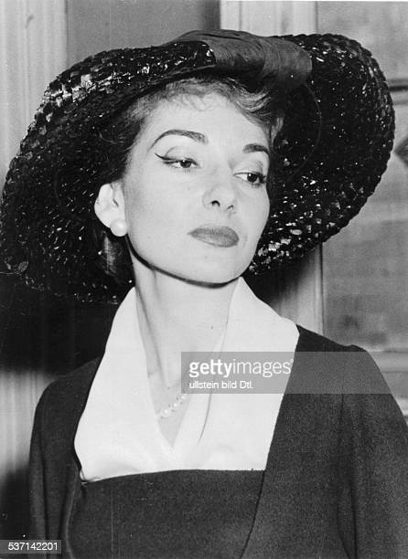 Maria Callas , Sängerin, Sopran, USA / Griechenland, - Porträt um 1958