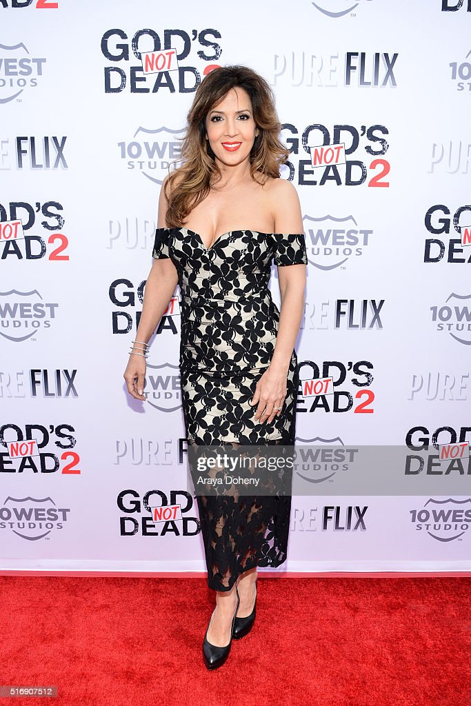 Maria Canals-Barrera attends the premiere of Pure Flix Entertainment's 'God's Not Dead 2' at Directors Guild Of America on March 21, 2016 in Los Angeles, California.