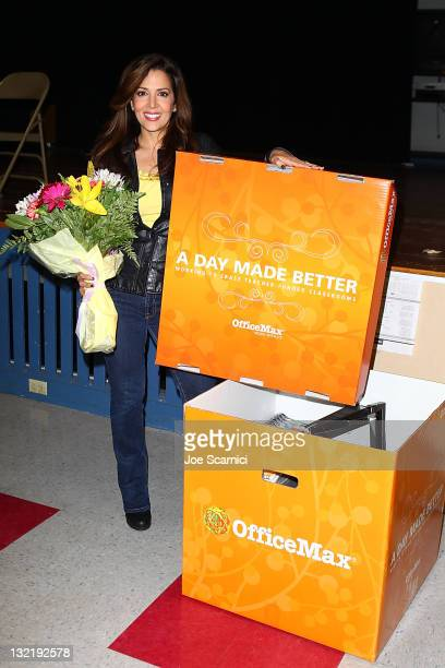 Maria CanalsBarrera joins 'A Day Made Better' School Advocacy Campaign and prepairs to surprise Jenny Niwa at Bret Harte Elementary School on...