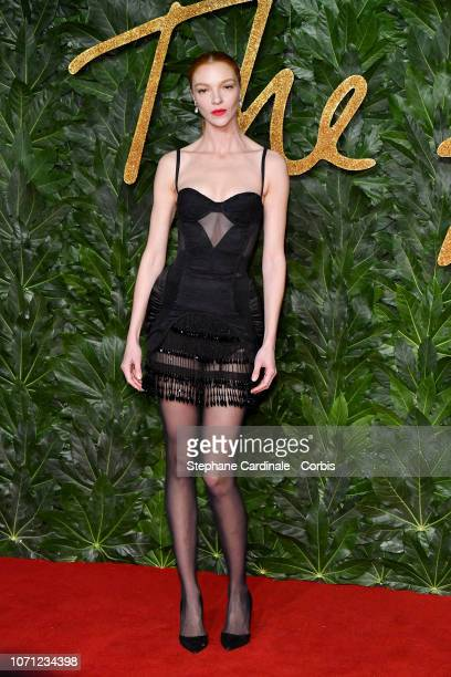 Maria Carla Boscono attends the Fashion Awards 2018 in partnership with Swarovski at Royal Albert Hall on December 10, 2018 in London, England.