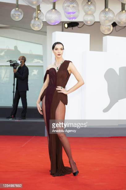 """Maria Carla Boscono attends the red carpet of the movie """"Madres Paralelas"""" and Opening Ceremony during of the 78th Venice International Film Festival..."""