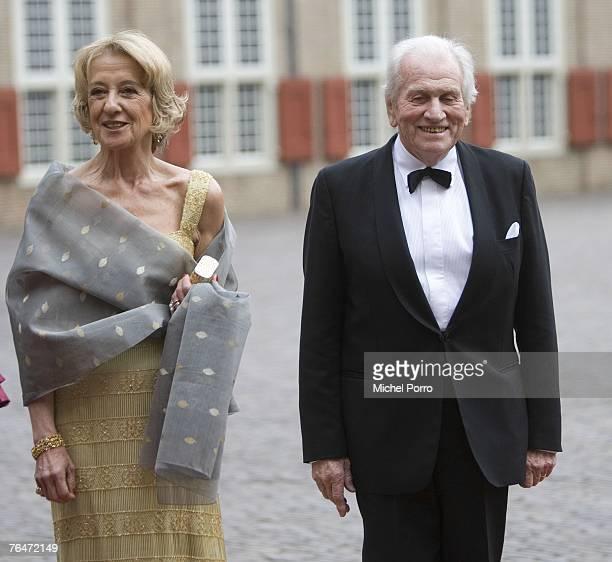 Maria Carmen Cerruti de Zorreguieta , mother of Dutch Princess Maxima, and her husband Jorge Zorreguieta arrive to attend celebrations marking the...