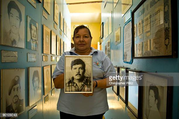 Maria Carmen Hurtado the keeper of the small museum to the Sandinista revolution and its hero fighters who died for their belief in a better future...