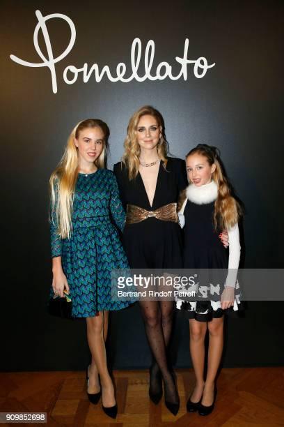 Maria Carolina de Bourbon des DeuxSiciles Chiara Ferragni and Maria Chiara de Bourbon des DeuxSiciles attend the new Pomellato campaign launch with...