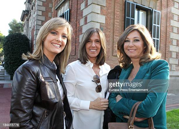 Maria Casado Ana Blanco and Ana Rosa Quintana attend the press conference for the 58th Ondas Awards 2011 at Palacete Albeniz on November 30 2011 in...