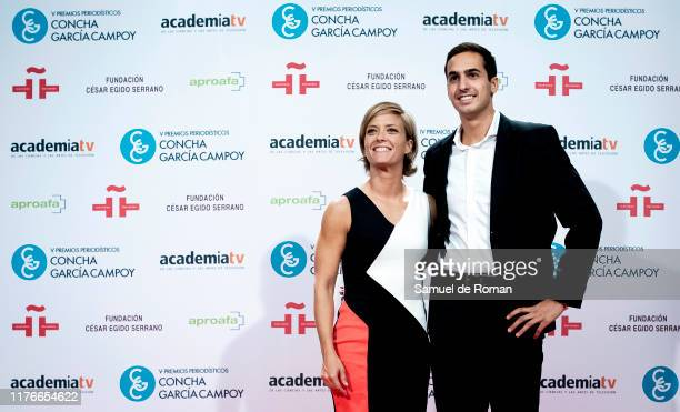 Maria Casado and Lorenzo Diaz Garcia attend during scientific journalist award 'Concha Garcia Campoy' In Madrid on September 23, 2019 in Madrid,...