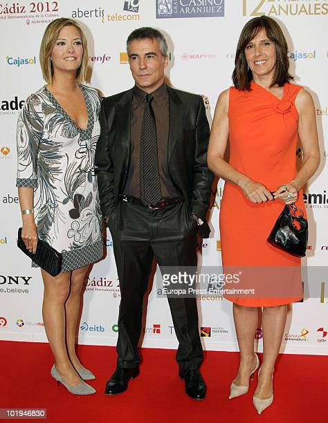 Maria Casado David Cantero and Ana Blanco attend the 'Spanish Academy Television Awards 2010' at Teatros del Canal on June 9 2010 in Madrid Spain