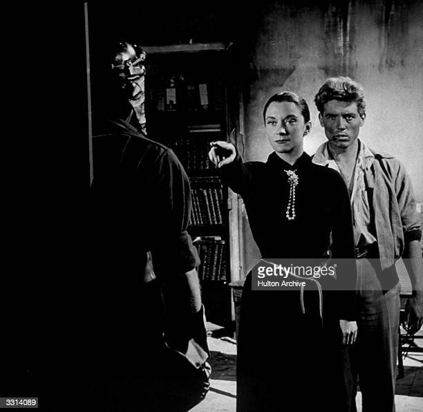 Maria Casares and Edouard Dermithe in a scene from Jean Cocteau's film 'Orpheus' original title 'Orphee' The film was directed by Jean Cocteau for...