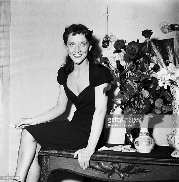 Maria Casares At The Comedie Francaise In 1952