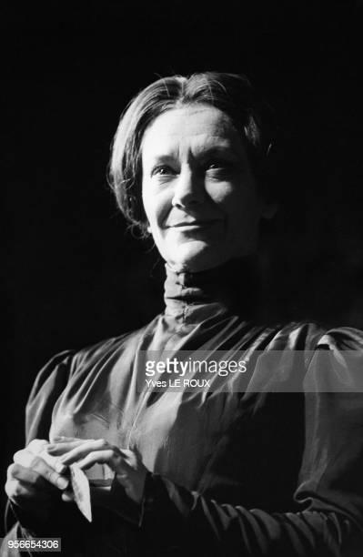 Maria Casares dans la pièce 'Danse de la Mort' en février 1970 Paris France