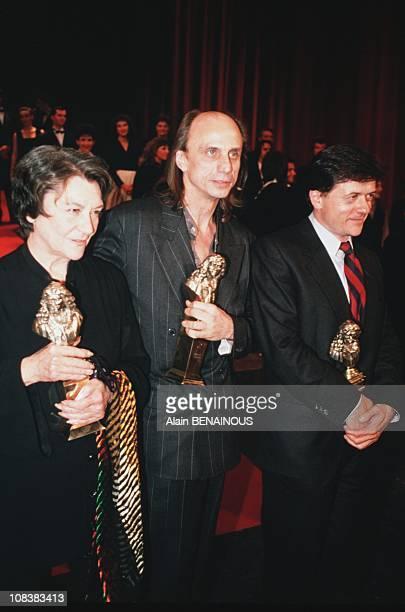 Maria Casares Gerard Desarthe Patrice Chereau in Paris France on May 07 1989