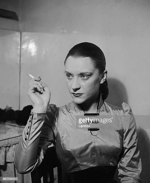 Maria Casares in Les Justes of Albert Camus Paris theatre Hebertot December 1949