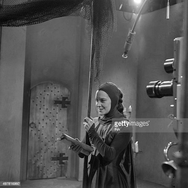 Maria Casarès in lady Macbeth's role in the Shakespeare's play realized by Claude Barma