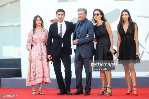 "Maria Castellitto, Pietro Castellitto, Sergio Castellitto, Margaret Mazzantini and Anna Castellitto walk the red carpet ahead of the movie ""I..."
