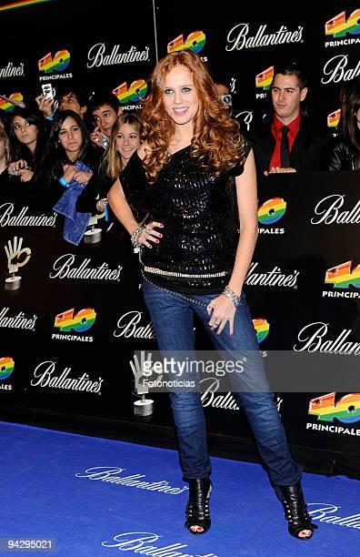 Maria Castro arrives at the ''40 Principales'' Awards at the Palacio de Deportes on December 11, 2009 in Madrid, Spain.