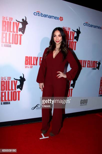 Maria Chacon poses for the camera during the opening night of Billy Elliot Music Show on February 15 2017 in Mexico City Mexico