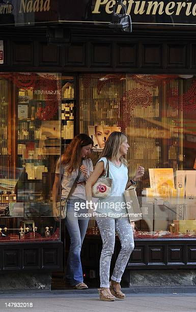 Maria Chavarri and Isabel Chavarri are seen on July 5 2012 in Madrid Spain