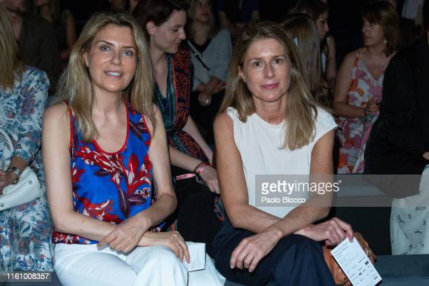 Maria Chavarri attends Devota Lomba fashion show during the Mercedes Benz Fashion Week Spring/Summer 2020 on July 09 2019 in Madrid Spain