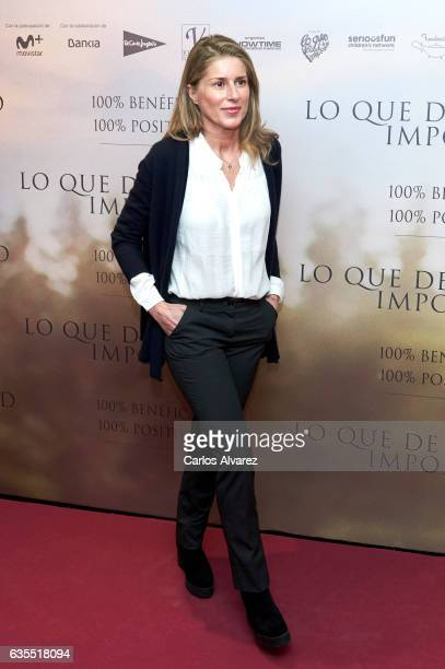 Maria Chavarri attends 'Lo Que De Verdad Importa' premiere at the Capitol cinema on February 15 2017 in Madrid Spain