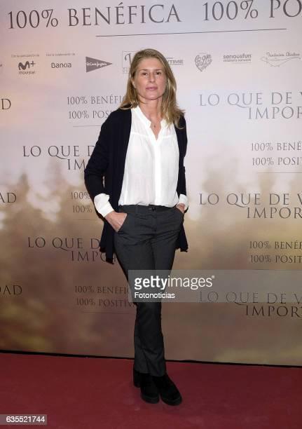 Maria Chavarri attends the 'Lo Que De Verdad Importa' premiere at the Hotel Vincci Capitol on February 15 2017 in Madrid Spain