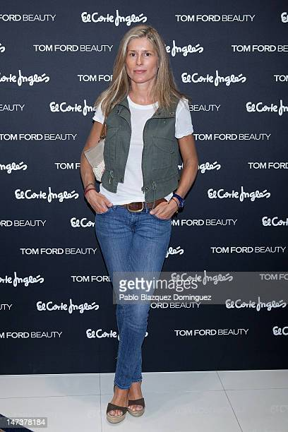 Maria Chavarri attends 'Tom Ford Beauty' shop inauguration at El Corte Ingles on June 28 2012 in Madrid Spain