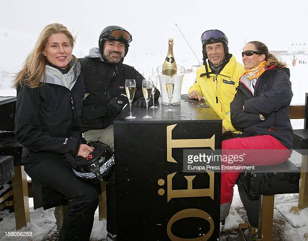 Maria Chavarri Javier Soto Joanes Osorio and Blanca Suelves attend Moet Lounge In Baqueira ski resort on December 8 2012 in Baqueira Beret Spain