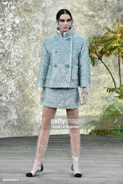Maria Clara Boscono walks the runway during the Chanel Paris show as part of the Paris Fashion Week Womenswear Spring/Summer 2018 on October 3 2017...