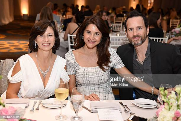 Maria Clara Palacios actress Denise Duff and musician Michael Duff attend the Pia Gladys Perey Spring/Summer 2016 Fashion Show at Sofitel Hotel on...