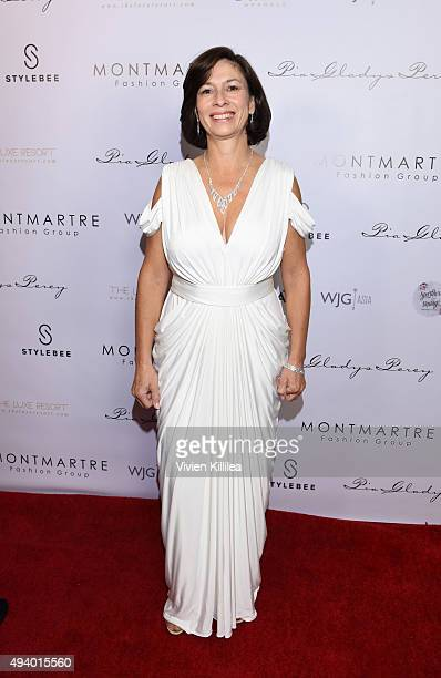Maria Clara Palacios attends the Pia Gladys Perey Spring/Summer 2016 Fashion Show at Sofitel Hotel on October 23 2015 in Los Angeles California