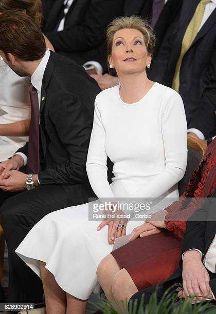 Maria Clemencia Rodriguez de Santos attends the Nobel Peace Prize ceremony at Oslo City Town Hall on December 10, 2016 in Oslo, Norway.