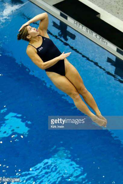 Maria Coburn of Longhorn Aquatics competes during the Senior Women's 3m Springboard Final during the 2017 USA Diving Summer National Championships on...