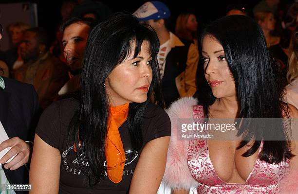 Maria Conchita Alonso and Apollonia during Mercedes Benz Fall 2005 LA Fashion Week at Smash Box Studios Harveys Front Row and Backstage at Smashbox...