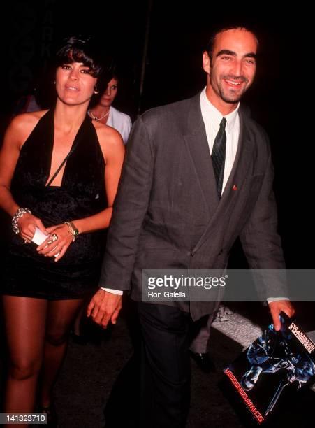 Maria Conchita Alonso and date at the Premiere of 'Terminator 2' Cineplex Odeon Cinema Century City