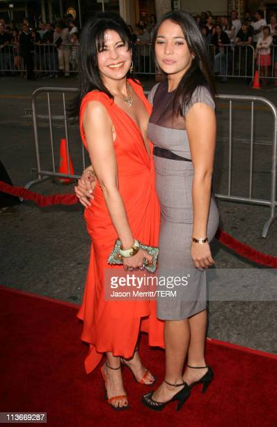 Maria Conchita Alonso and Natalie Martinez during Babel Los Angeles Premiere Arrivals at Mann Village in Westwood California United States