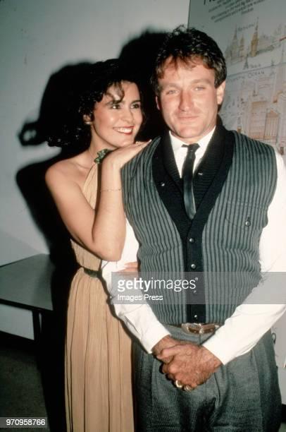 Maria Conchita Alonso and Robin Williams circa 1984 in New York