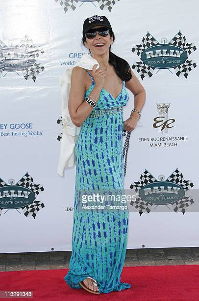 Maria Conchita Alonso arrives at the Rally for Kids with Cancer Scavenger Cup Start Your Engines Brunch at Eden Roc a Renaissance Beach Resort and...