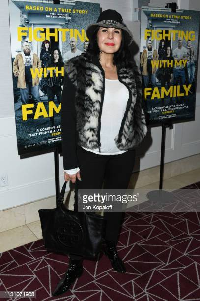 Maria Conchita Alonso attends Fighting With My Family Los Angeles Tastemaker Screening at The London Hotel on February 20 2019 in West Hollywood...