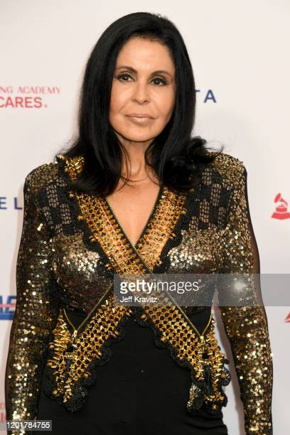 Maria Conchita Alonso attends MusiCares Person of the Year honoring Aerosmith at West Hall at Los Angeles Convention Center on January 24 2020 in Los...