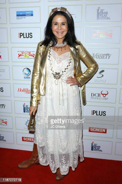 Maria Conchita Alonso attends the 33rd Israel Film Festival in Los Angeles opening night gala and awards presentation at The Saban on November 12...