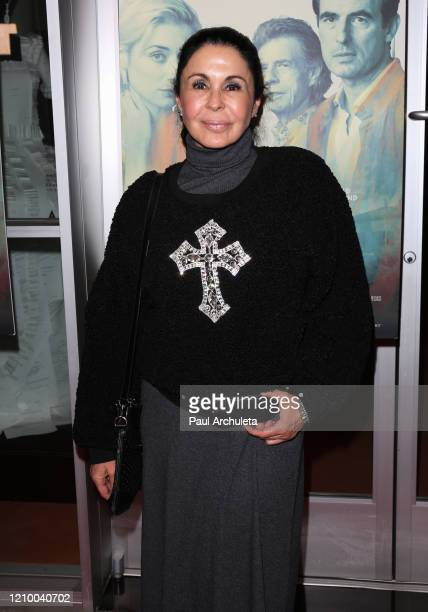 """Maria Conchita Alonso attends the LA special screening of Sony's """"The Burnt Orange Heresy"""" at Linwood Dunn Theater on March 02, 2020 in Los Angeles,..."""