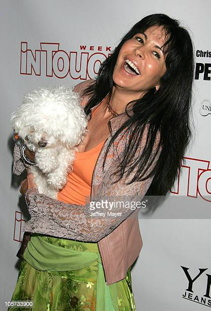 Maria Conchita Alonso during In Touch Weekly Presents Pets and Their Stars Unleashed at Cabana Club in Los Angeles California United States