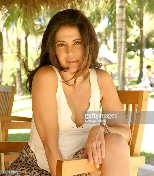 Maria Conchita Alonso during Maria Conchita Alonso Portraits at The Palm Hotel in Miami Beach Florida United States